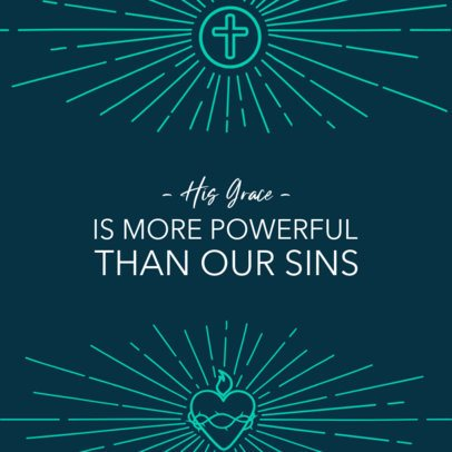 Christian-Themed Instagram Post Maker with a Beautiful Quote and Ornamental Graphics 2987f