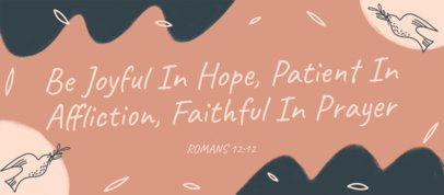 Facebook Cover Design Creator with a Quote About Patience 2988f