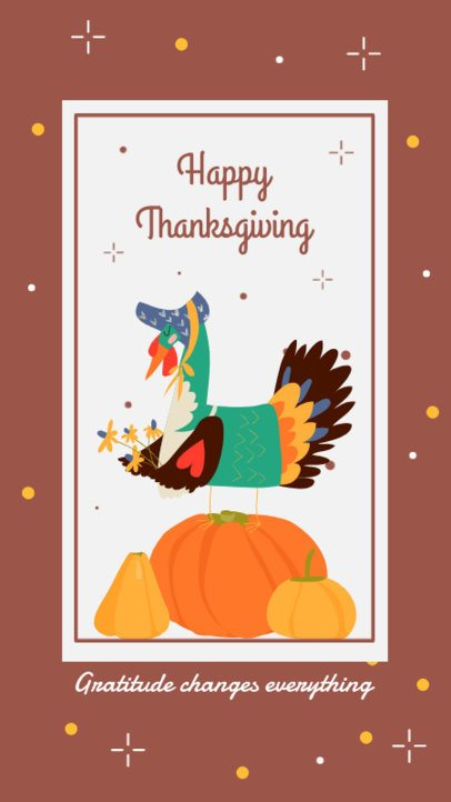Beautiful Fall-Themed Instagram Story Design Maker to Wish a Happy Thanksgiving 2948e-el1