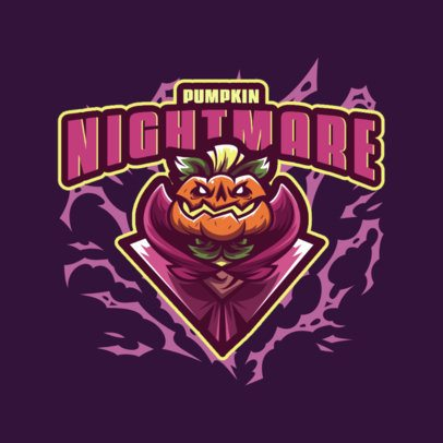 Gaming Logo Generator with a Horror Pumpkin King Graphic 3711k