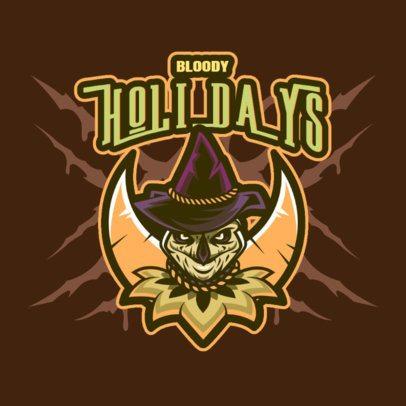 Horror Gaming Logo Generator Featuring an Evil Scarecrow 3711o