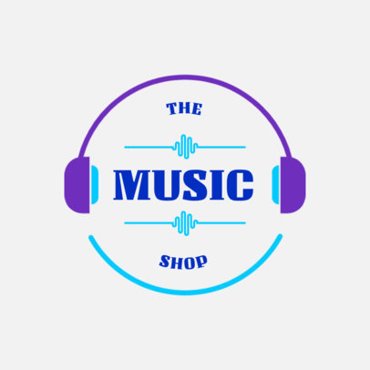 Online Logo Maker for a Music Shop Featuring Sound Waves 3697a