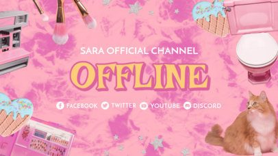 Twitch Offline Banner Maker with a 2000's Aesthetic 3023