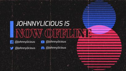 Twitch Offline Banner Creator with a Retro VHS Aesthetic 3019c