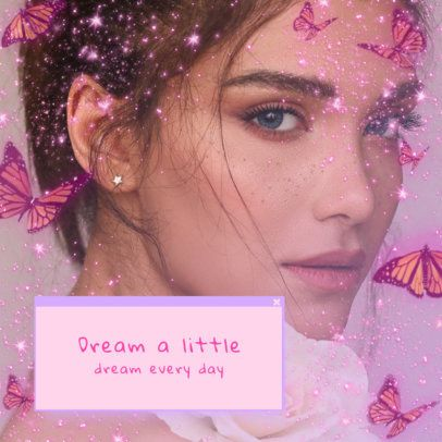 Girly Instagram Post Generator with 2000's Style Quotes 3022b