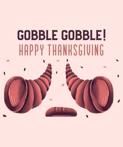 Holiday T-Shirt Design Maker for Thanksgiving Day 3008g
