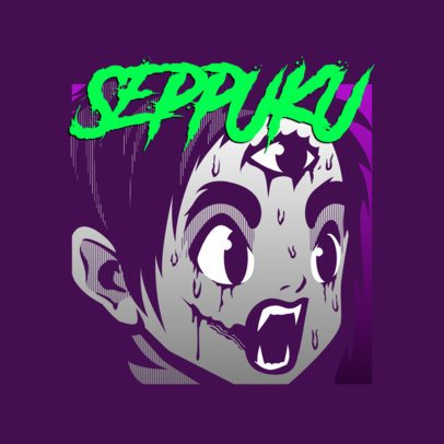 Horror Logo Maker Featuring an Anime-Inspired Character 3723a