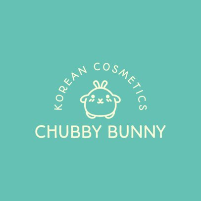 Beauty Logo Creator with a Chubby Bunny Graphic 3728g