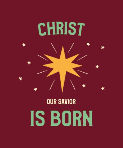 Xmas T-Shirt Design Generator Featuring a Star Graphic and a Religious Quote 3014b