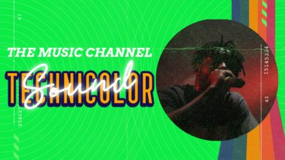 YouTube Thumbnail Maker for an 80's Music Channel with a VHS Aesthetic 3020e