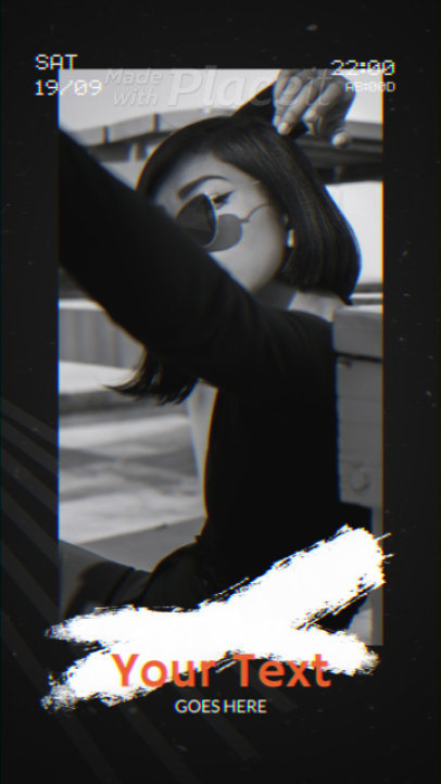 Instagram Story Video Maker Featuring a Retro VHS Aesthetic 2348-el1