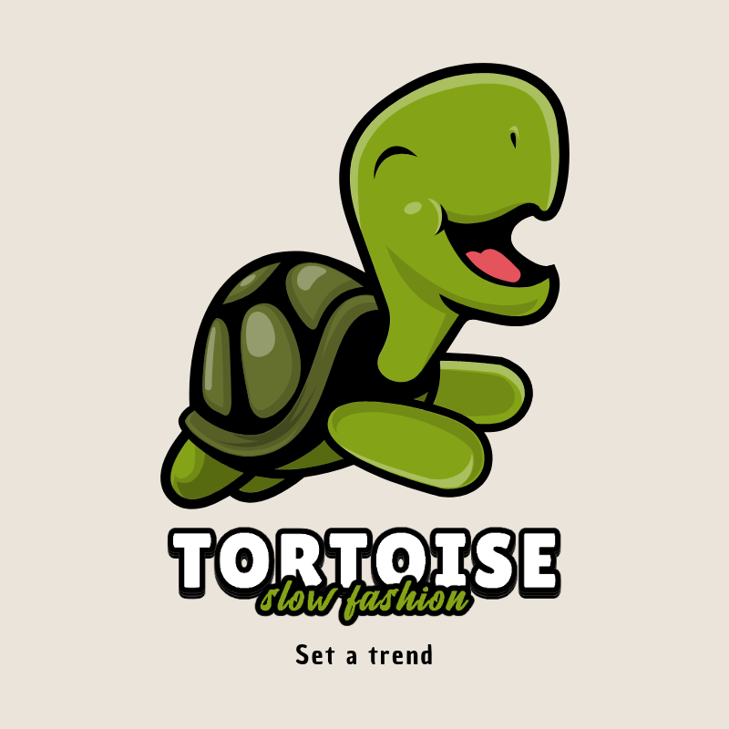 Online Logo Creator with a Turtle Graphic for a Slow Fashion Brand 3055d-el1