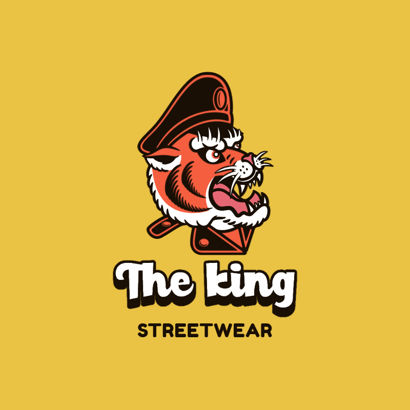Streetwear Logo Template with a Captain Tiger Character Illustration 3047b-el1