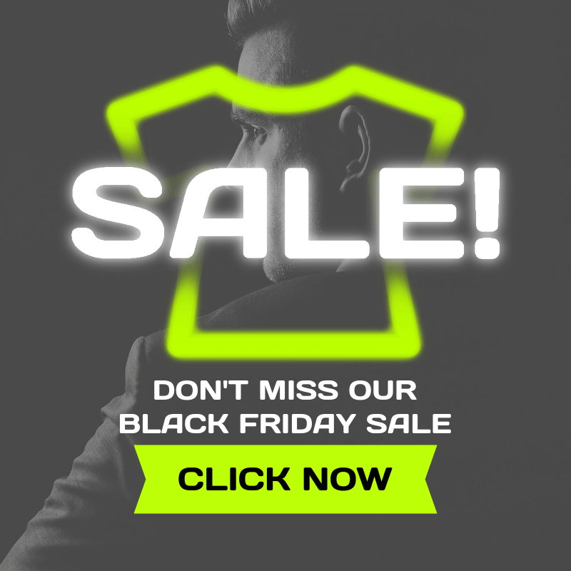 Ad Banner Generator for a Black Friday T-Shirt Sale with Neon Colors 3031h