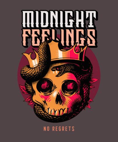 T-Shirt Design Template for Music Band Fanatics 3070