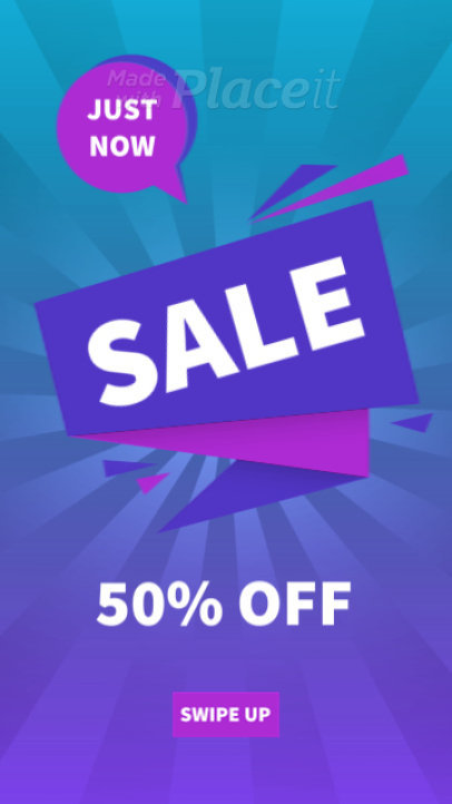 Instagram Story Video Maker with Fun Motion Graphics for a Super Sale 2364-el1