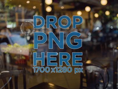 Window Decal Mockup at a Restaurant a14521-032917