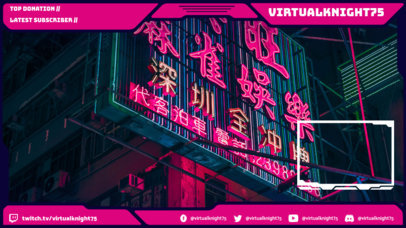 Cyberpunk-Style Twitch Overlay Generator for Gaming Streamers 3058h