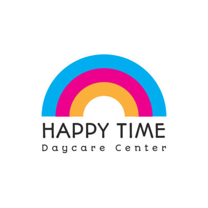 Colorful Logo Template for a Daycare Center 3764