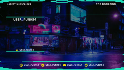 Twitch Overlay Creator with a Cyberpunk 2077-Inspired Background 3059c