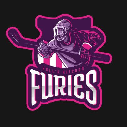 Sports Logo Maker Featuring an Emblem with a Hockey Player 1560g