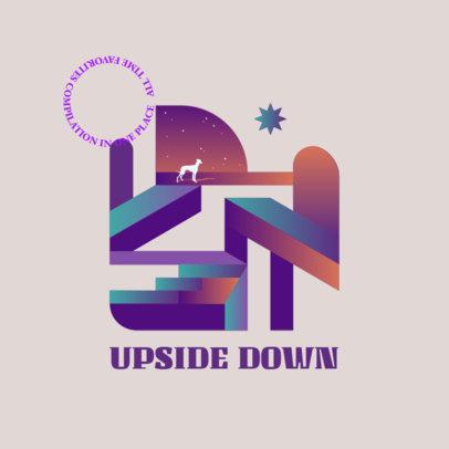 Music Logo Template Featuring Futuristic Gradient Illustrations 3766d