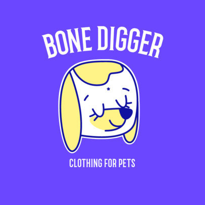 Logo Maker for a Pets' Clothing Brand Featuring a Cute Dog Graphic 3776c