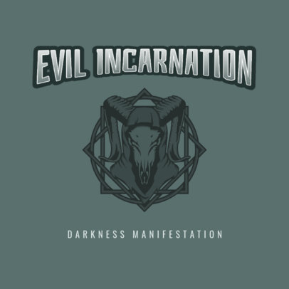 Music Logo Maker for a Dark Metal Band with an Evil Graphic 3772i