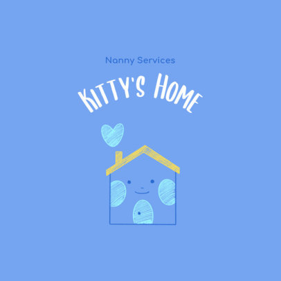 Logo Maker for a Nanny Service with a Home Illustration 3763f