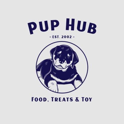 Illustrated Logo Creator for a Puppy Treats Brand 3776f