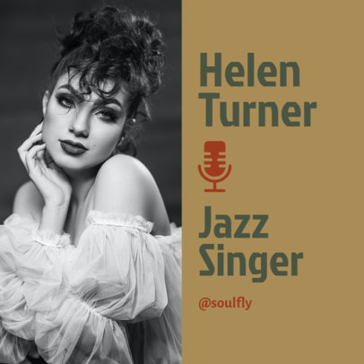 Instagram Post Design Creator Featuring a Picture of a Freelance Jazz Singer 3068b