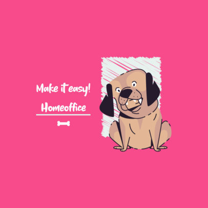 Online Logo Maker Featuring Funny Dog Graphics 3786