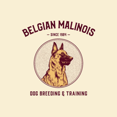 Strong Logo Generator for a Dog Breeder and Trainer 3776c