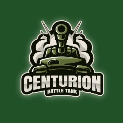 Gaming Logo Template Featuring War Tank Graphics 3124-el1