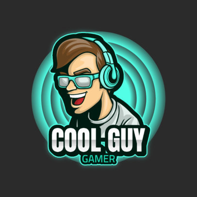 Logo Template Featuring Cool Illustrations of Gamers 3120-el1