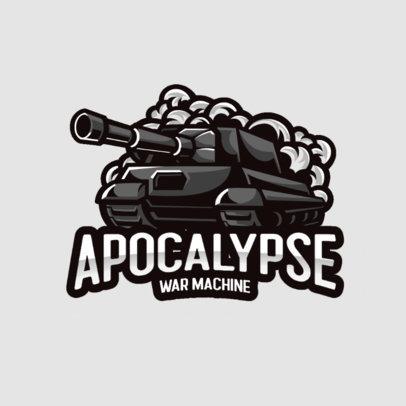 Gaming Logo Creator with an Army Tank Illustration 3124c-el1