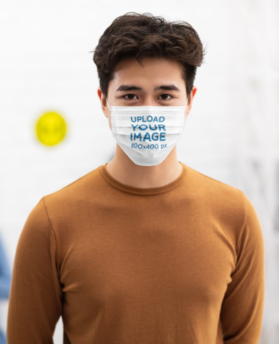Mockup Featuring a Man With a Face Mask Posing 44691-r-el2