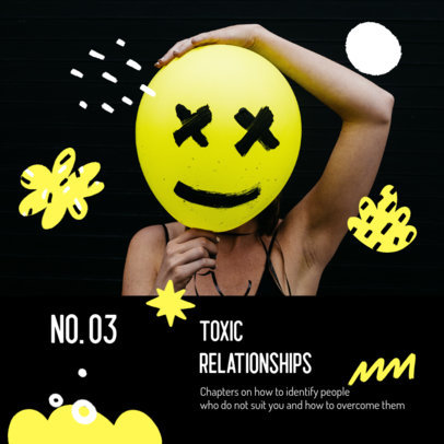 Mental-Health Podcast Cover Template with a Toxic Relationships Theme 3066c-el1
