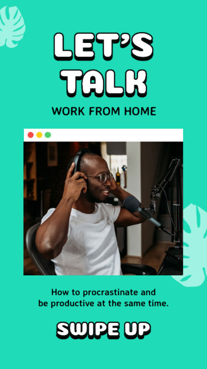 Instagram Story Design Template for a Productivity Podcast 3068f-el1