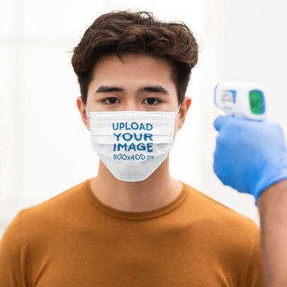 Disposable Face Mask Mockup Featuring a Serious Young Man 44689-r-el2