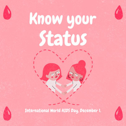 Cute Instagram Post Creator to Commemorate International AIDS Day 3098f