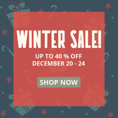 Ad Banner Creator to Announce a Special Winter Sale 3088b