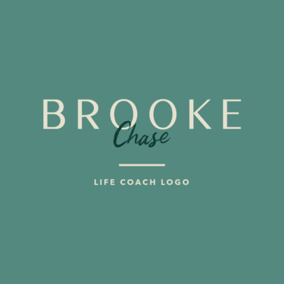 Life Coach Logo Maker with a Classy Typography 3790d