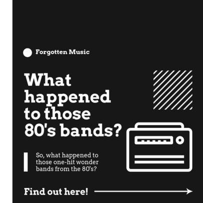 Instagram Post Design Template for a Retro Music Podcast 3072a-el1