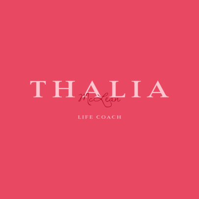 Logo Maker for a Life Coach with an Elegant Typography 3790f
