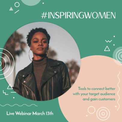 Online Instagram Post Template for a Live Webinar for Women 3091d