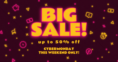 Facebook Post Generator to Announce a Big Cyber Monday Sale 3102c