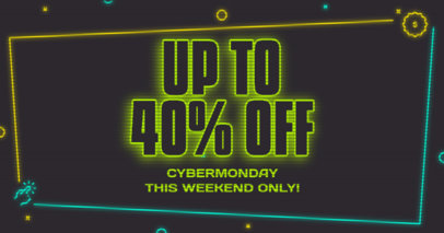 Cyber Monday-Themed Facebook Post Design Maker for a Weekend Sale 3102h