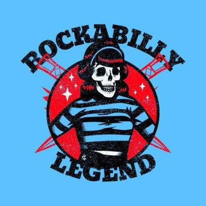 Music Logo Maker Featuring a Female Rockabilly Skeleton 3799g