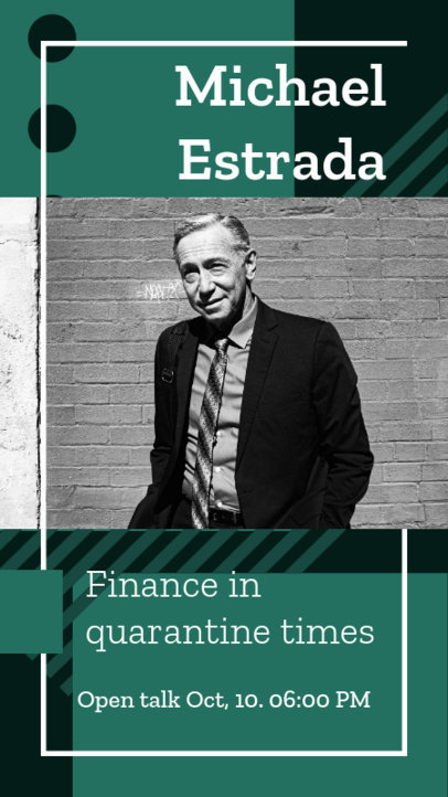 Instagram Story Template for a Finance Consultant's Online Talk 3090a